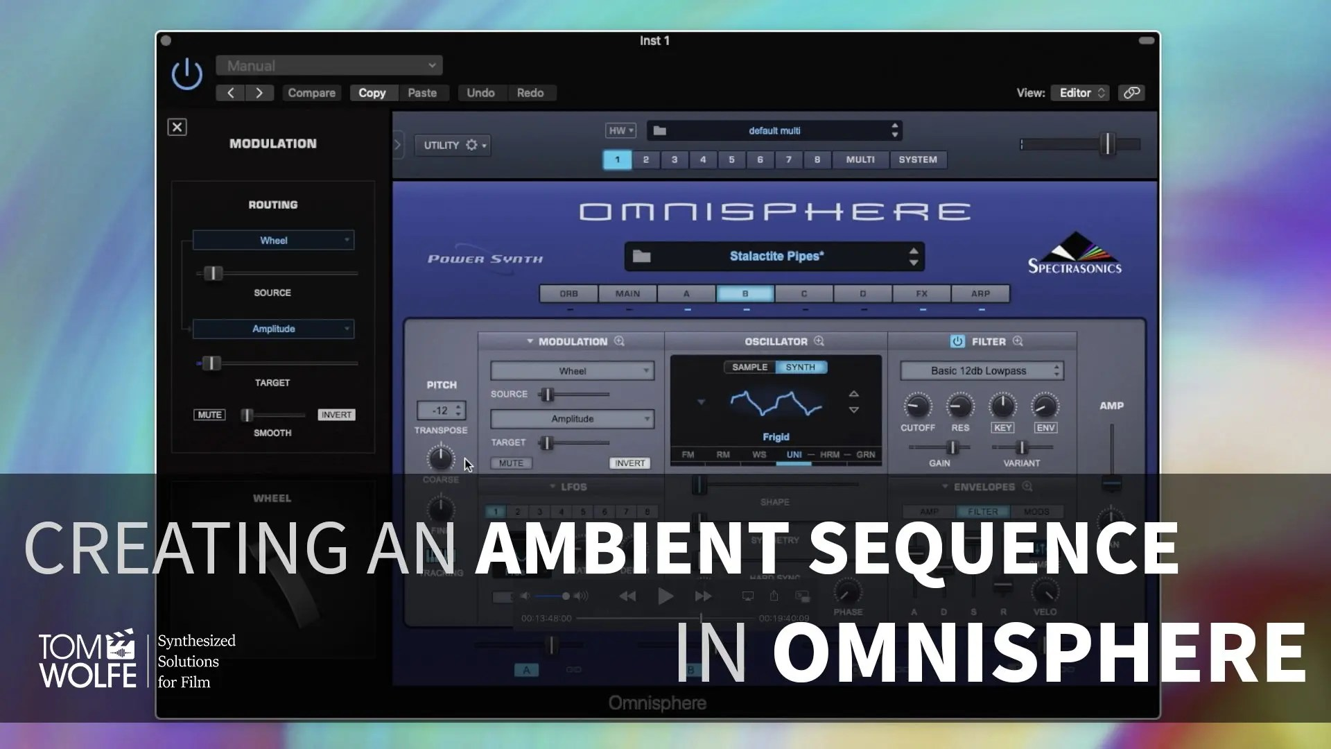 Creating A Patch In Omnisphere - Ambient Sequence (Tutorial)