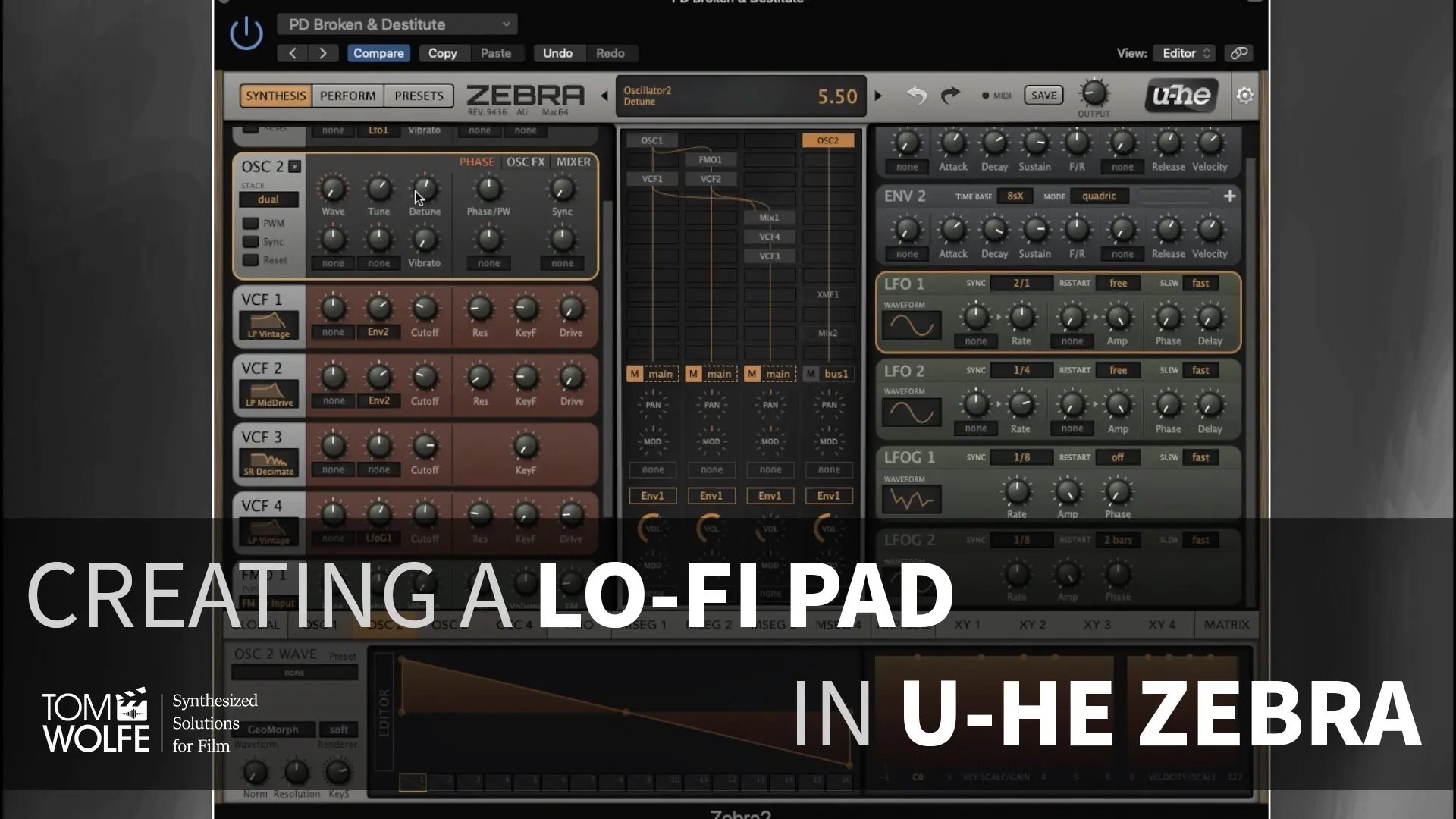 Creating A Patch In U-he Zebra - Lo-Fi Pad