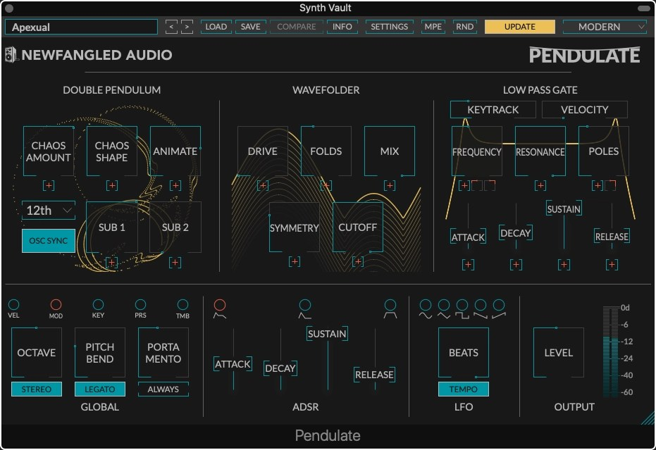 Synth Vault: Free Presets for Newfangled Audio Pendulate