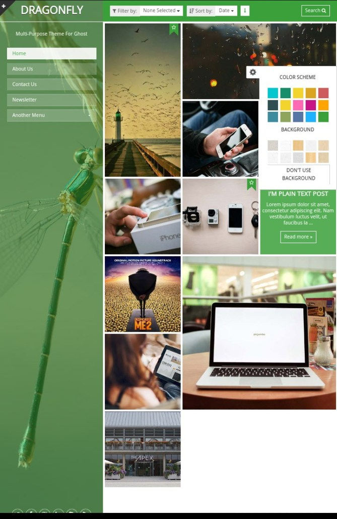 테마포레스트 (Themeforest) 8월의 무료 테마 모바일 화면 미리보기 2 themeforest-august-free-theme-dragonfly-download-review-screenshot-mobile-02