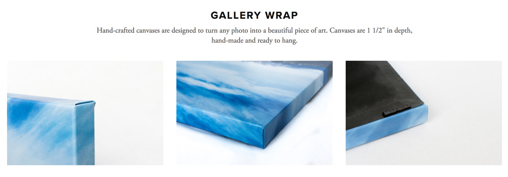 Order Gallery Wrap Prints - www.tonawilliams.com