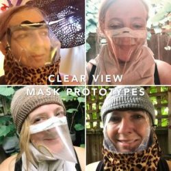 Clear View Mask Prototypes by Tona Williams