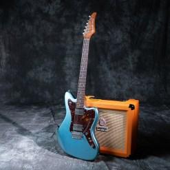 Baracuda Jammaster Metallic Blue with Tortoise Pickguard