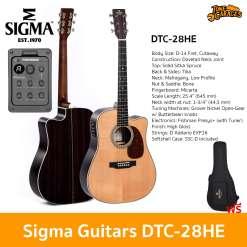 Sigma Guitars DTC-28HE Acoustic Guitar กีต้ารโปร่ง กีต้าร์โปร่งไฟฟ้า กีต้าร์อคูสติก กีต้าร์อคูสติกไฟฟ้า