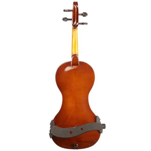 Produktbillede af bagsiden på en el-violin med hvid baggrund
