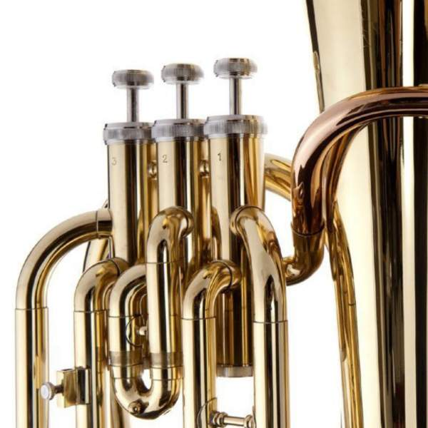 Produktbillede af ventiler på en baryton med hvid baggrund