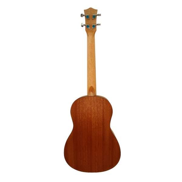 Produktbillede af bagsiden på en baryton-ukulele med hvid baggrund