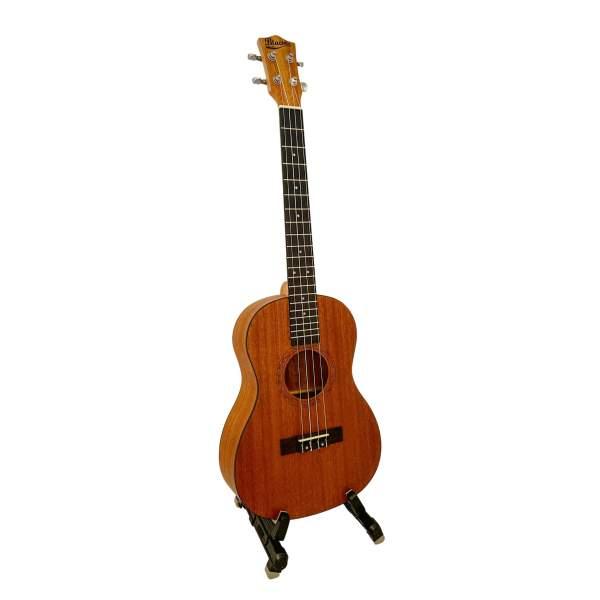 Produktbillede af en baryton-ukulele med hvid baggrund