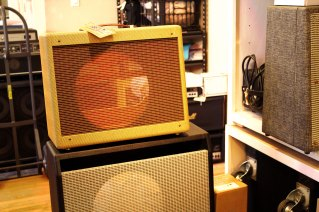 Some empty Mojotone cabs, ready to load