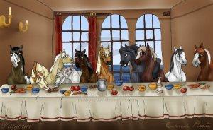 The Last Supper Horse by abosz007
