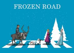 Abbey Road parody Frozen
