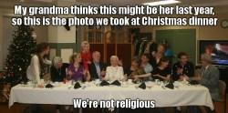 23122016: Ultima cena parodia l'ultimo Natale della nonna