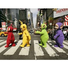 abbey road parody teletubbies