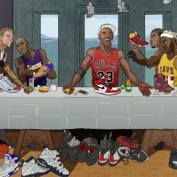 07042017: Ultima cena parodia Star NBA