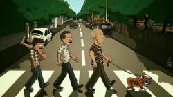 02082017: Abbey Road parody tre uomini e una gamba