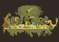 15092017: Ultima cena parodia Dinosauri