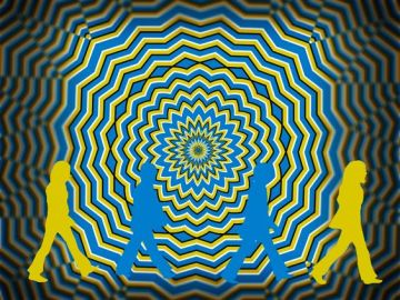 abbey road parody optical illusion