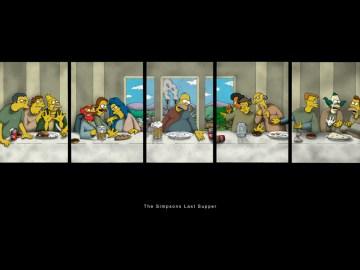 last supper parody Simpsons