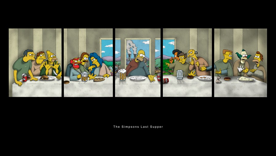 last supper parody Simpsons