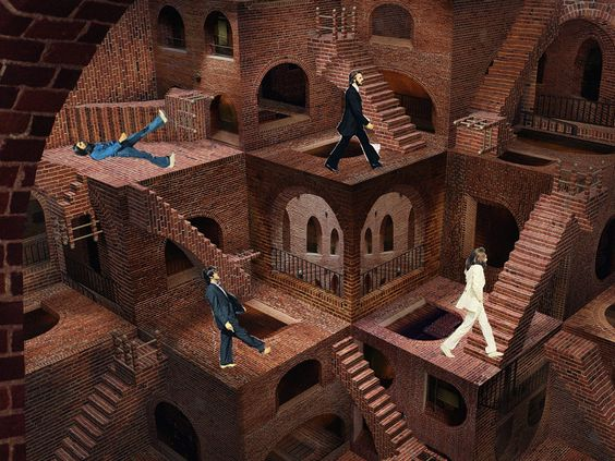 Abbey Road parody Escher