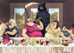 24112017: Ultima cena last supper fat