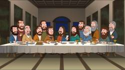 16022018: Ultima cena: last supper parody family guy