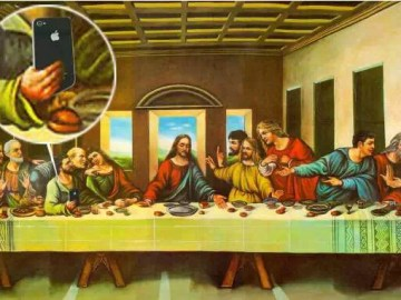 Last supper parody phone
