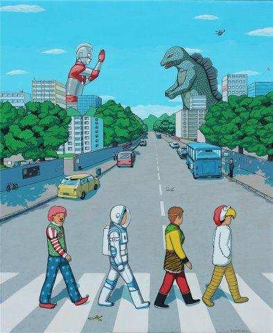 abbey Road Godzilla e Ultraman