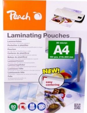 100 Peach Laminierhüllen mit Zentrierhilfe für 7,99 €