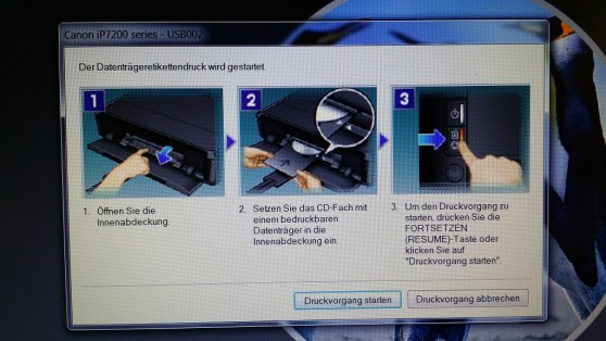 Dvds Bedrucken Mit Dem Canon Ip7250 Tonerdumping Blog