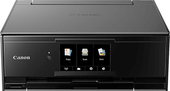 Das Design des Pixma TS-9150 zeigt klare Kante.