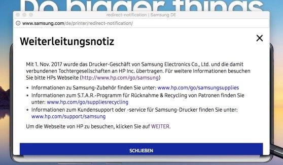 Samsung Toner jetzt bei HP.