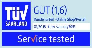 """Das neue Siegel """"Service tested"""" 01/2018"""