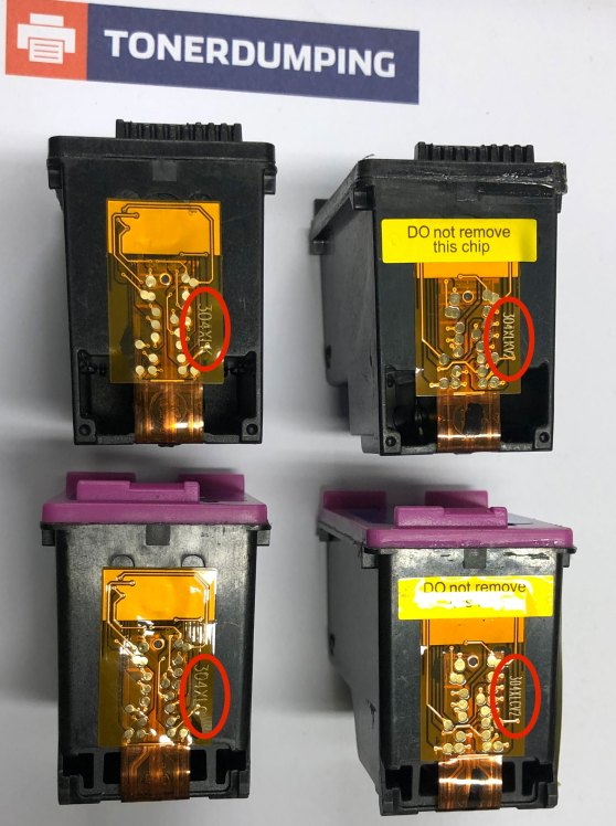 """Steht das """"V2"""" hinter der Patronenbezeichnung, wird die Patrone von den aktuellen HP Druckern erkannt."""