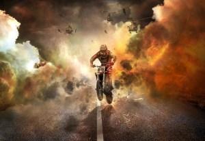 Fearless biker