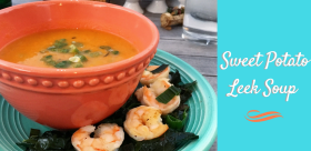 Sweet potato leek soup, paleo soup recipe