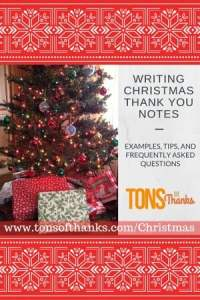 Writing Christmas thank you notes with examples, tips, and FAQ