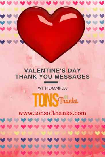Valentine\'s Day Thank You Messages Examples