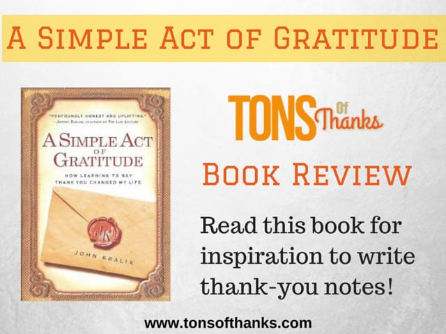 A Simple Act Of Gratitude PDF Free Download