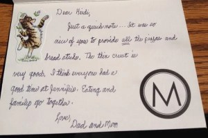 Eating and family go together – a thank you note from Mom