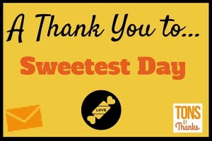 Sweetest Day thank you messages