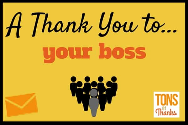 Boss'S Day Thank You Note Examples