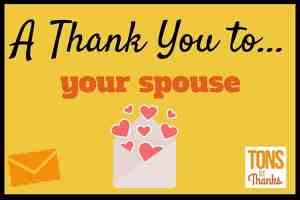 Thank you note to spouse examples