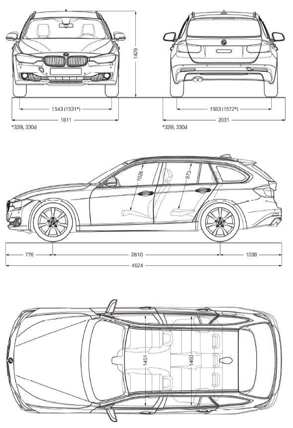 dimensions of bmw 3 series touring. Black Bedroom Furniture Sets. Home Design Ideas