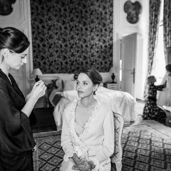 Maquillage de la mariée préparatifs mariage