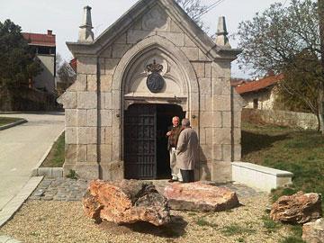 Istvan Turoczi and Josef Kosarka enterting Royal Tokaji cellars