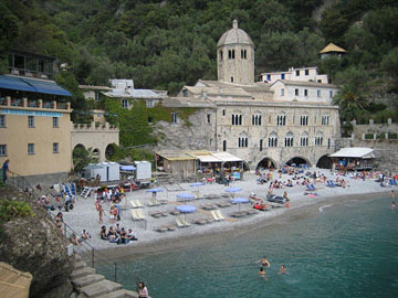 The beach at Camogli