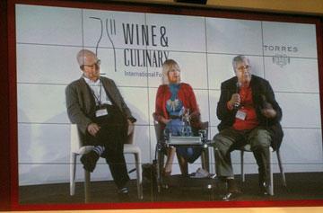 Nick Lander, Jancis Robinson and Victor de la Serna