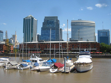 Port area in Buenos Aires