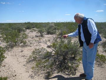 Guillermo Barzi in the desert